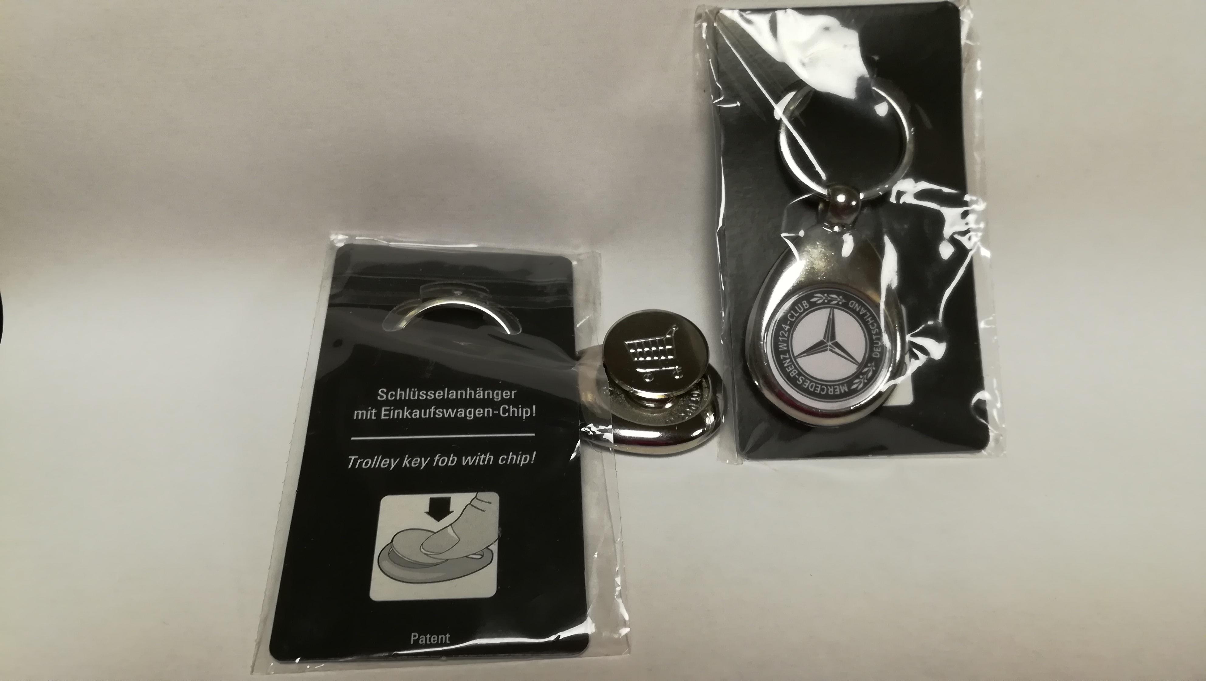 Schlüsselanhänger mit Einkaufswagen-Chip!