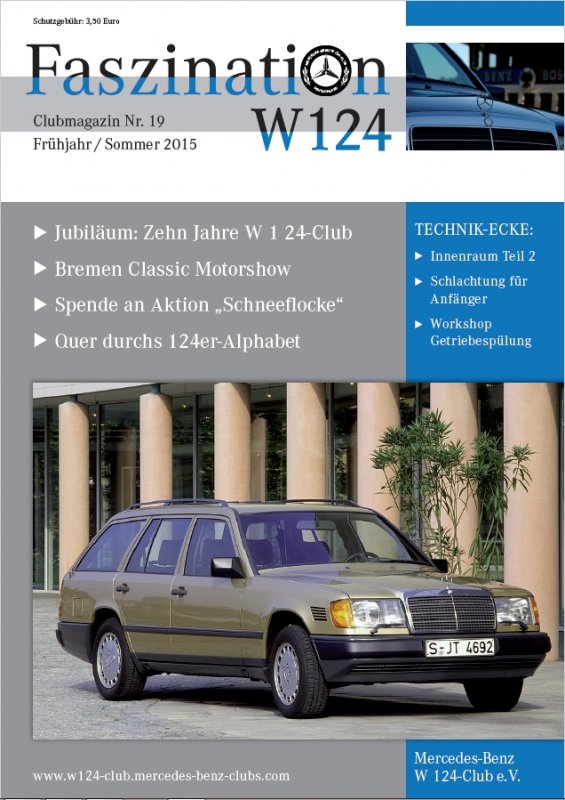 Clubheft Sommer 2015 (Nr. 19)