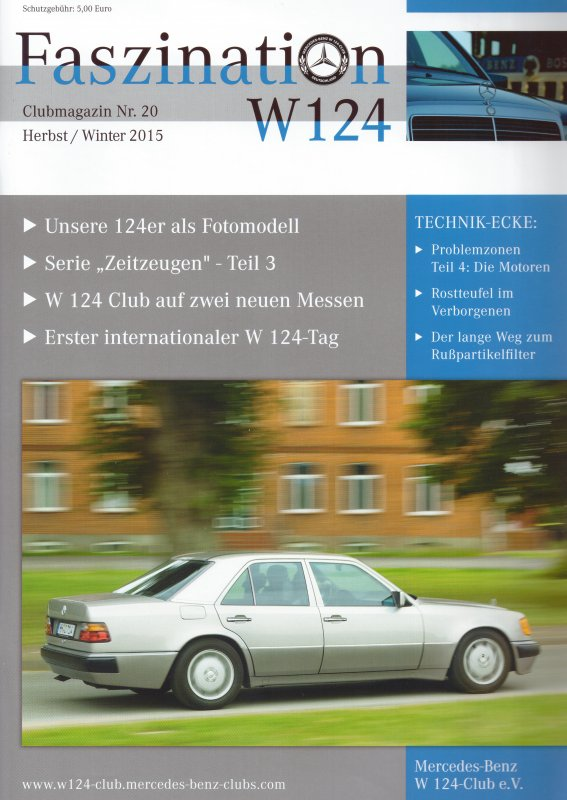 Clubheft Herbst/Winter 2015 (Nr. 20)