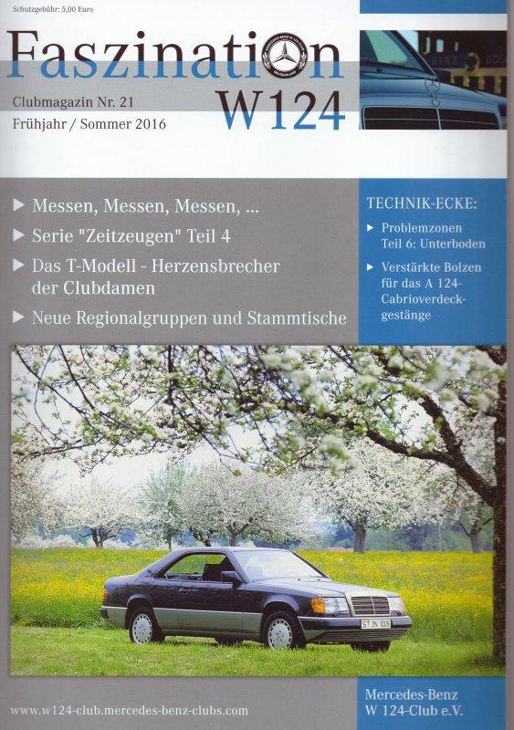 Clubheft Frühjahr/Sommer 2016 (Nr. 21)