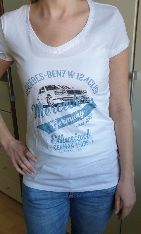 Damen T-Shirt mit flottem Aufdruck und 500 E