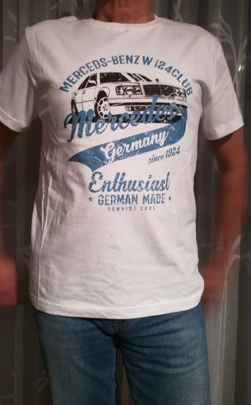 Herren T-Shirt mit schickem Aufdruck und 500 E